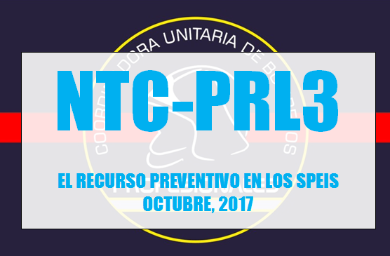 NTC-PRL3 EL RECURSO PREVENTIVO EN LOS SPEIS